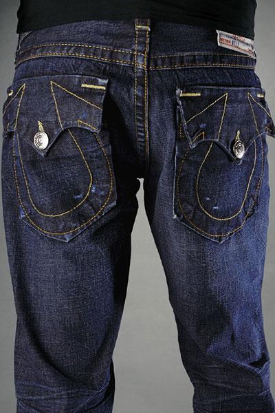 Mens Cream Jeans