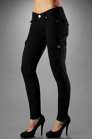 Cargo skinny jeans damen