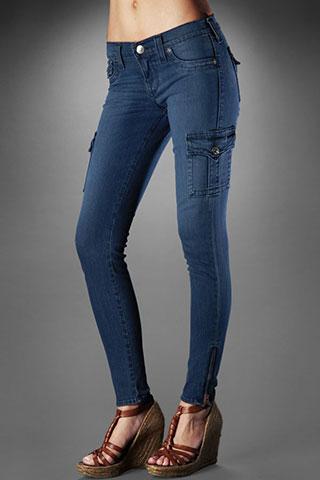 True Religion Women's Krista Super Skinny Cargo Legging - Stingr ...