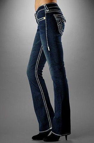 Womens straight leg bootcut jeans